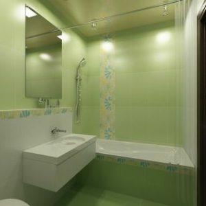 салатова ванна кімната фото