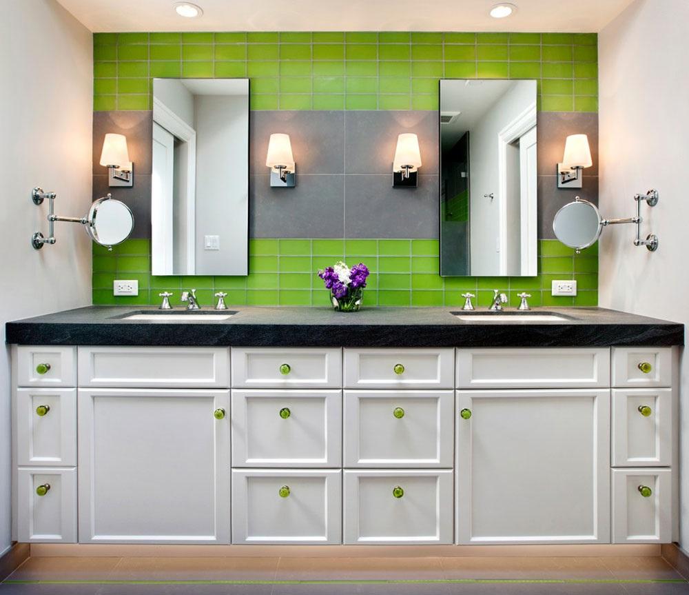 меблі для ванної комнати зеленого кольору