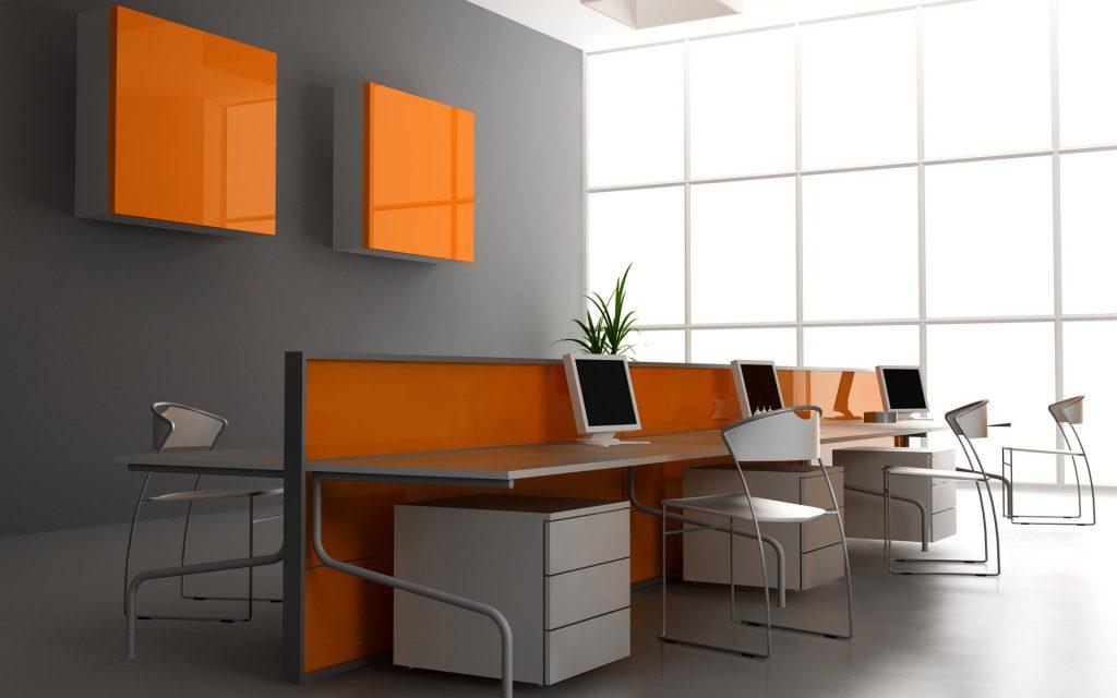 з чим поєднується оранжевий колір в інтер'єрі