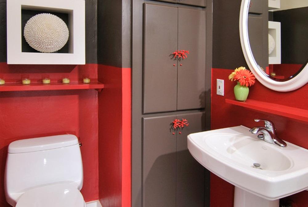 серо красная ванная
