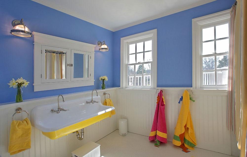 біло блакитна ванна фотографії