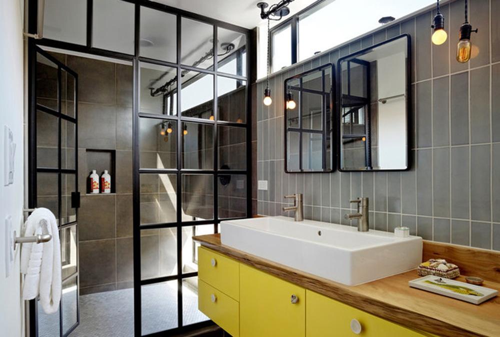 дизайн ванної кімнати в жовтих тонах