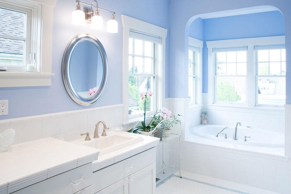 блакитна ванна кімната фото