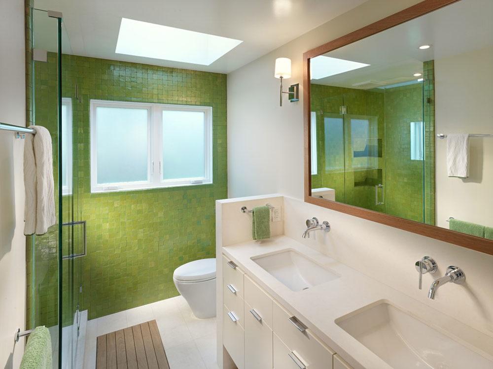 дизайн ванної кімнати в зеленому кольорі