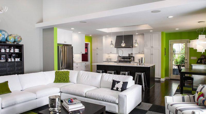 фото кухни совмещенной с гостиной