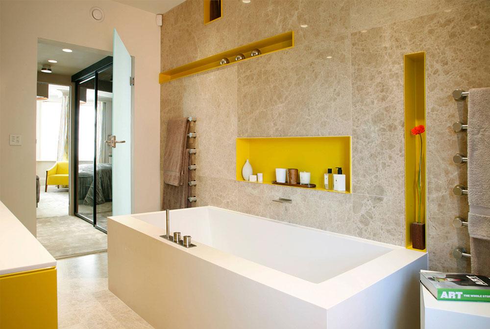 жовтий колір в інтер'єрі ванної фото