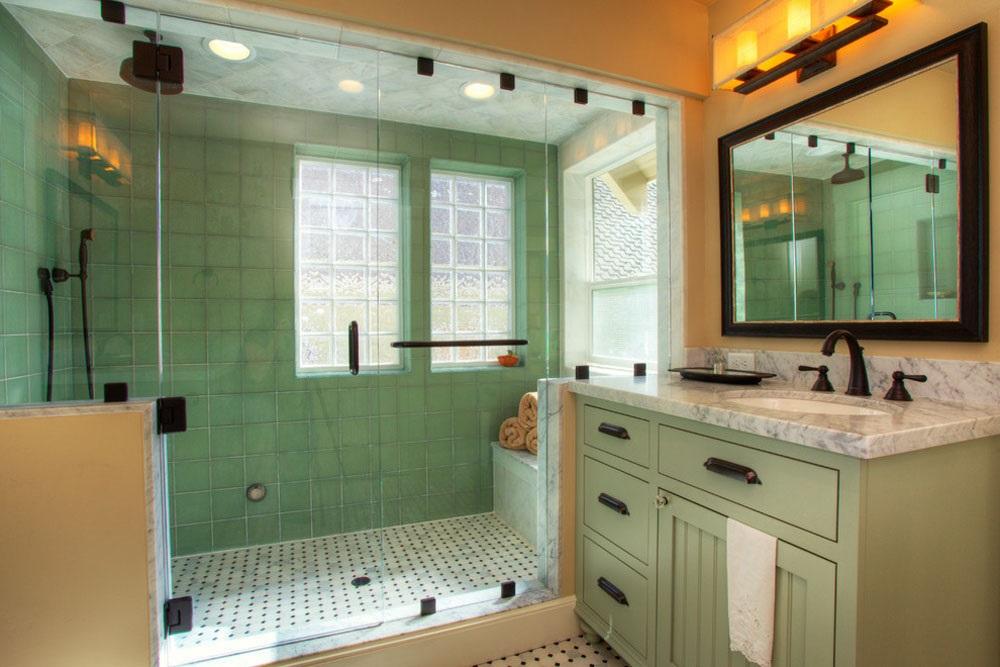 ванна кімната плитка зелена