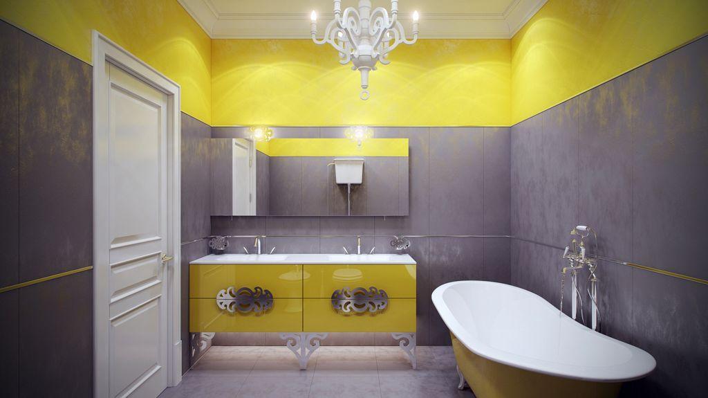 сіро-жовта ванна