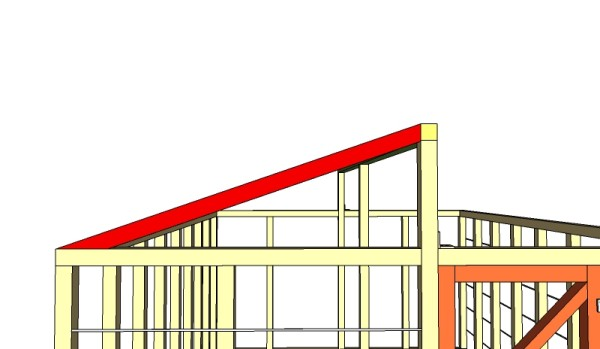 установление стропил крыши теплицы