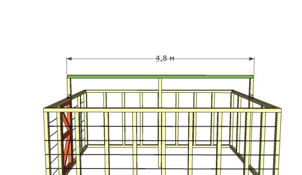 установка крыши теплицы