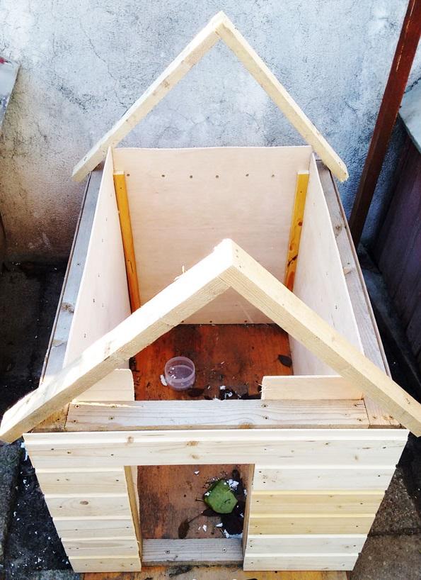 делаем крышу будки для собаки