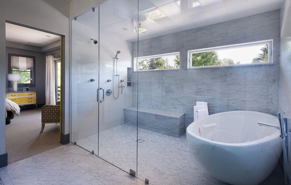 синя ванна кімната фото