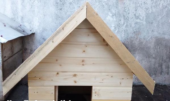 как сделать красивую будку для собаки своими руками