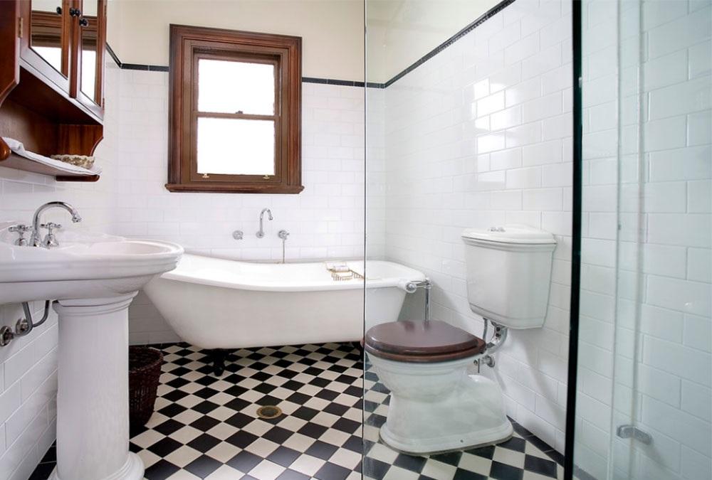чорно білі ванні кімнати фото