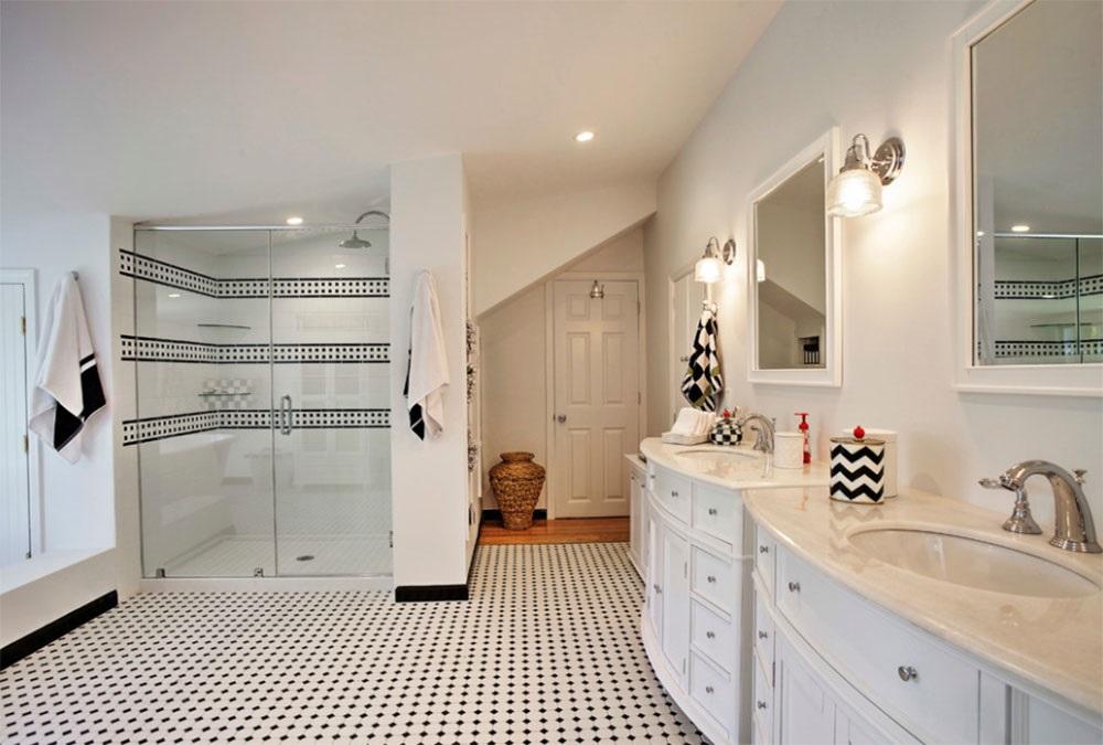 ванна кімната в чорно-білому кольорі фото