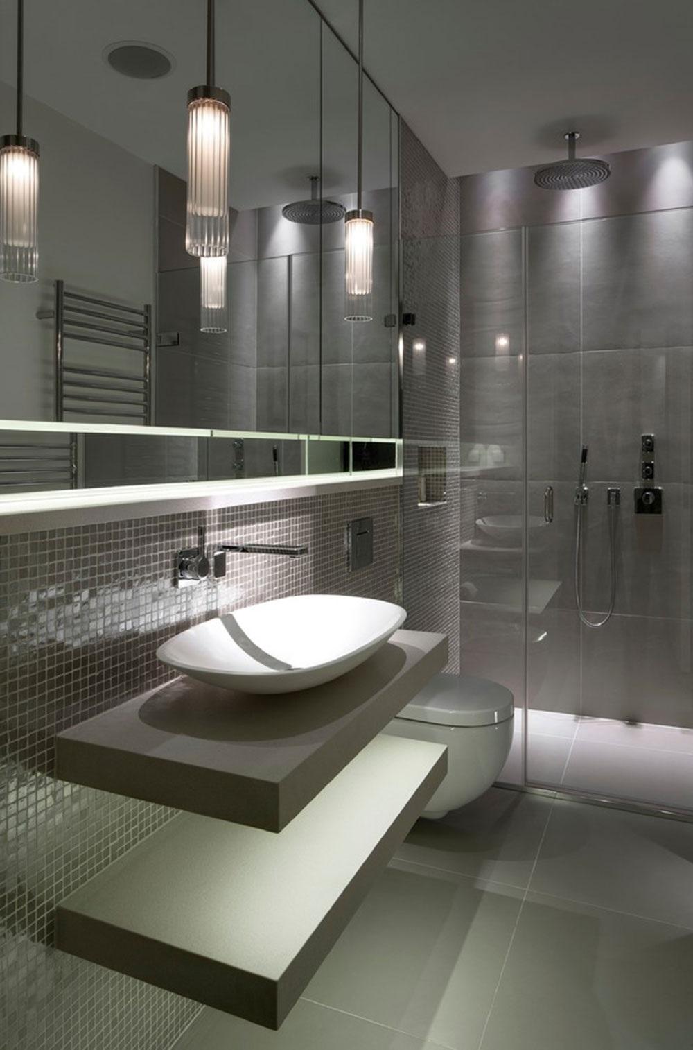 сіра ванна кімната фото