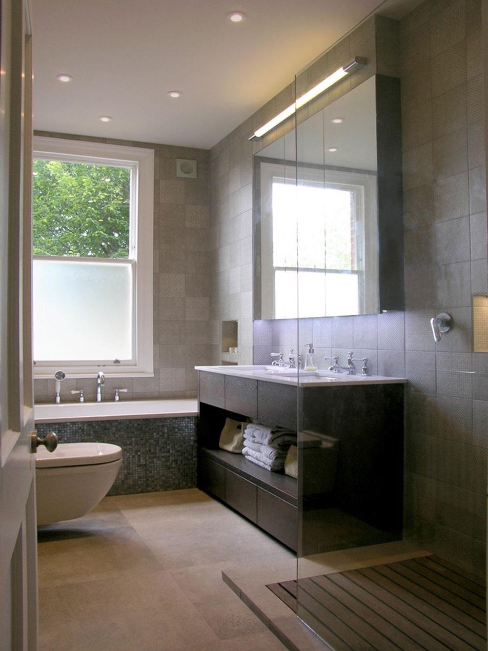сіра ванна кімната дизайн