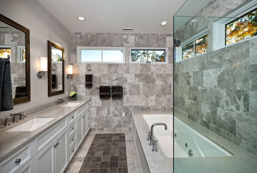 бело-серая ванная комната