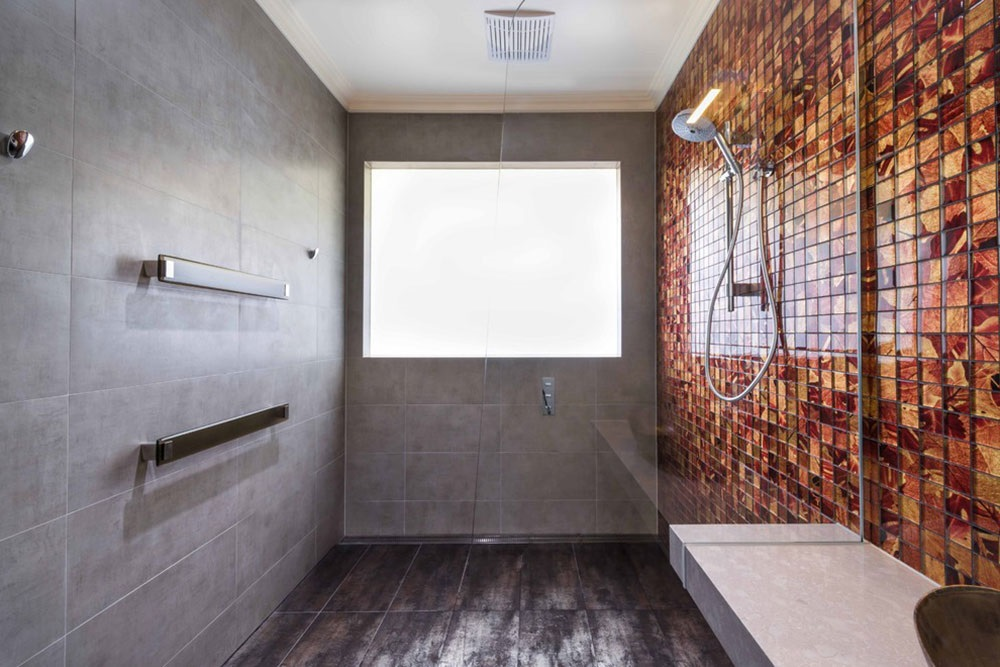 ванна кімната сіра плитка