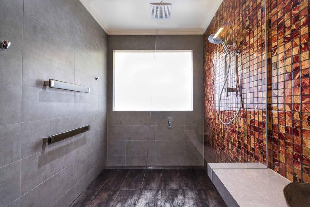 ванная комната серая плитка