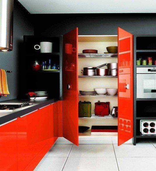 Чорно помаранчева кухня
