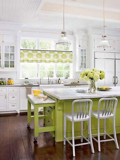 Кухні біло зеленого кольору