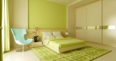 Спальня зеленого кольору фото