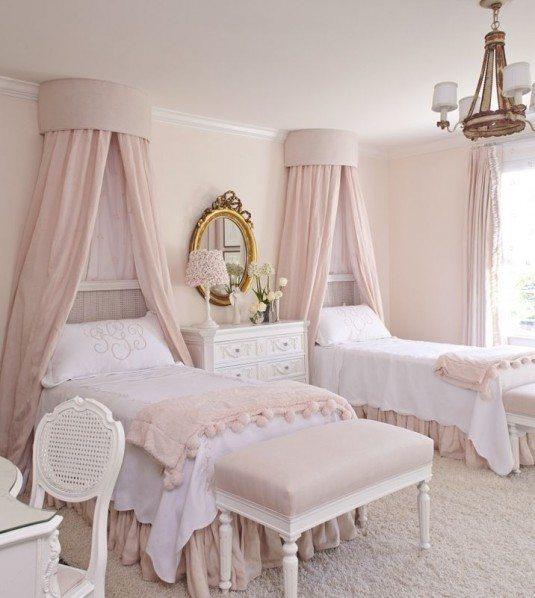 біле ліжко з балдахіном купити