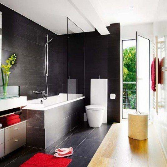Дизайн ванної в темних тонах