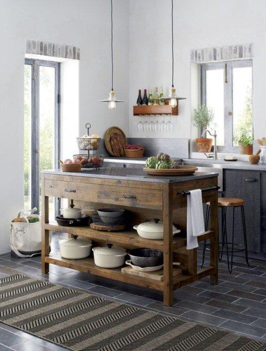 зберігання каструль на кухні