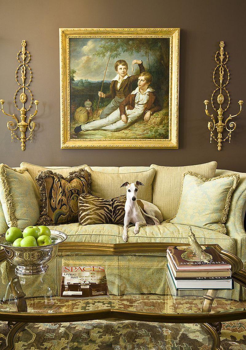 дивани для вітальні в класичному стилі