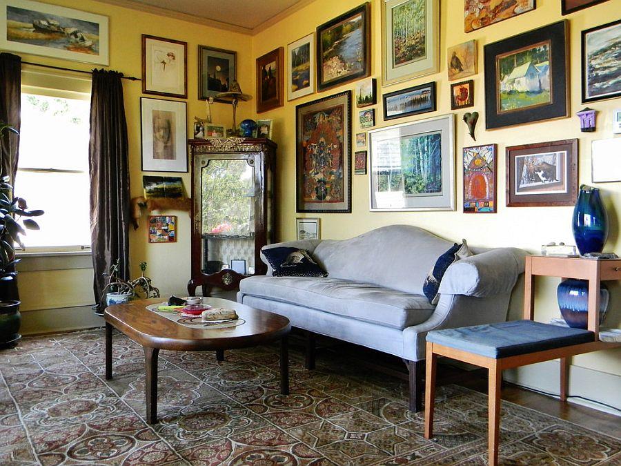 картини в інтер'єрі вітальні