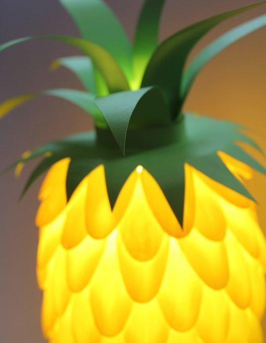 Абажури гачком візерунком ананаси