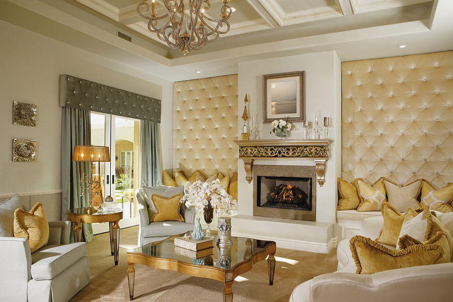 золотий колір стіни