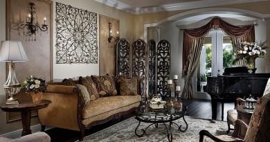інтер'єр вітальні в вікторіанському стилі