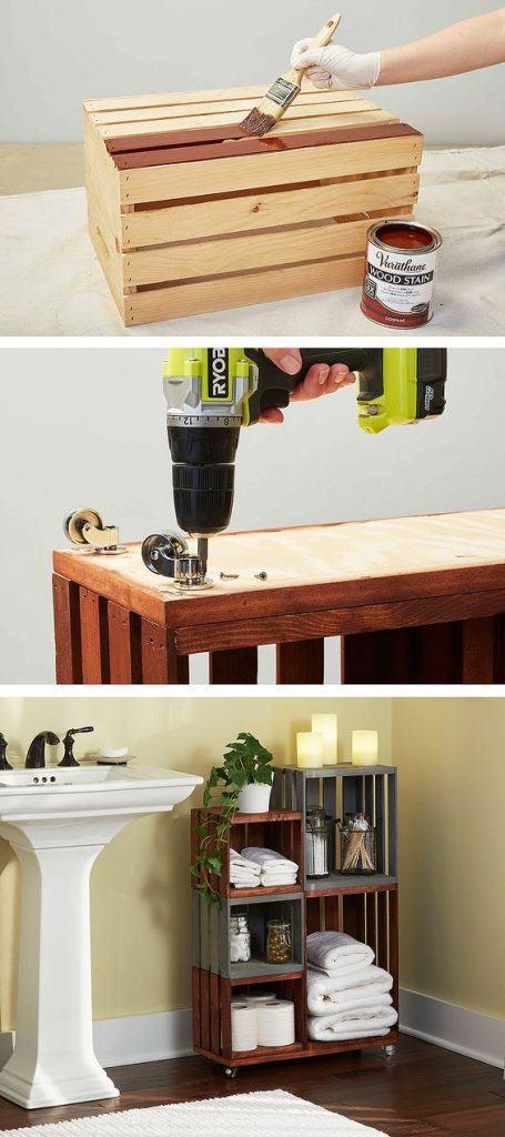 декор дерев'яних ящиків