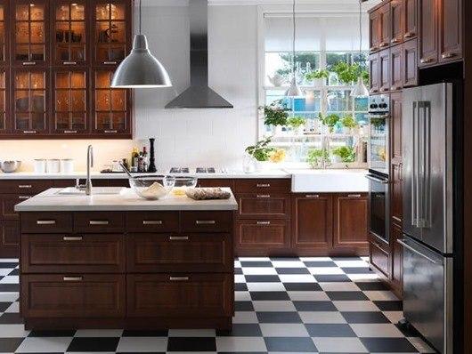 коричнева кухня