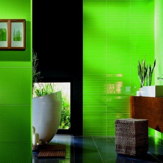 дизайн ванної кімнати зеленого кольору