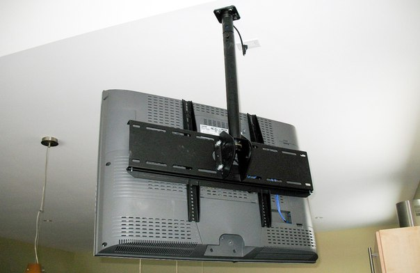 монтаж телевізора до стелі