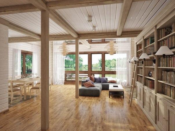 інтер'єр дерев'яних будинків