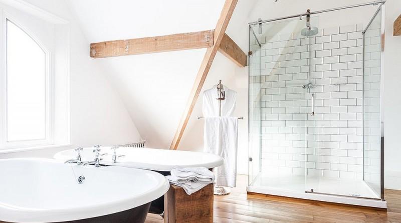 дизайн ванної кімнати в скандинавському стилі фото