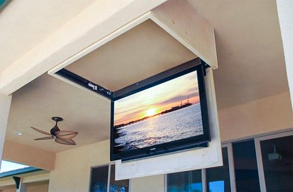 прикріплення телевізора до стелі