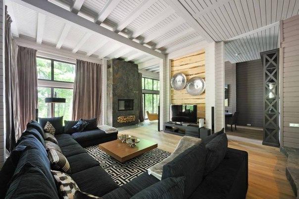 внутрішній інтер'єр дерев'яних будинків