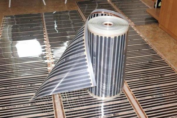 інфрачервона тепла підлога монтаж