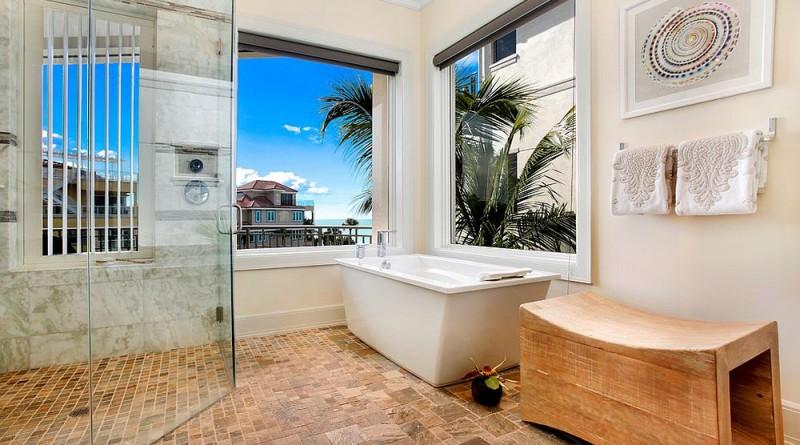 ванна в тропічному стилі