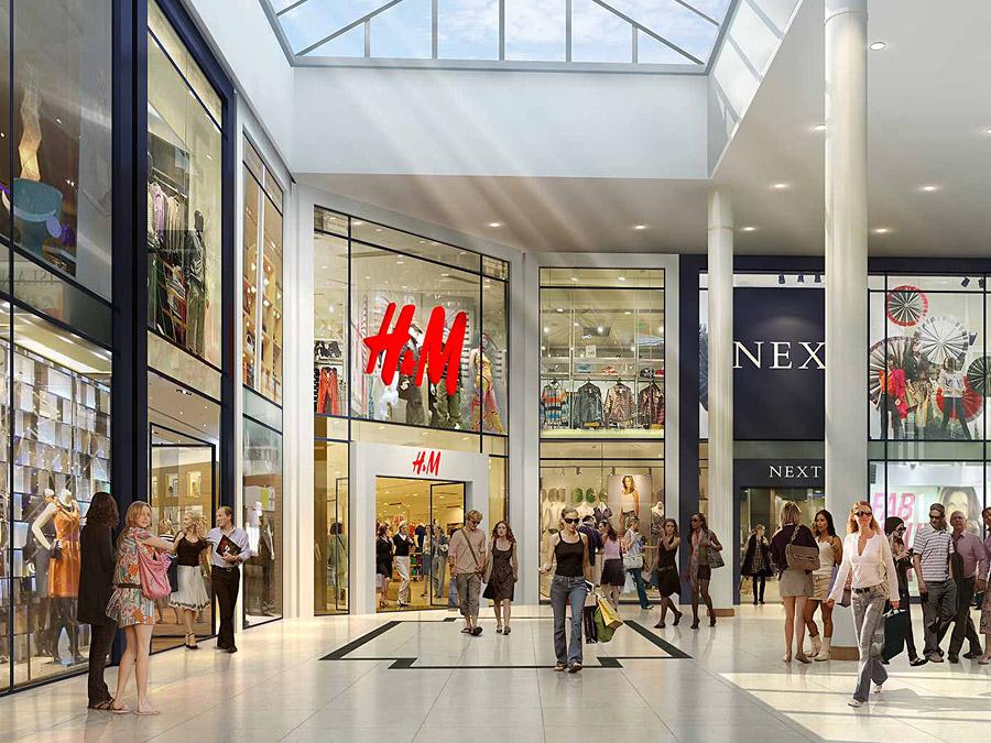 Дизайн інтер'єру торгового центру