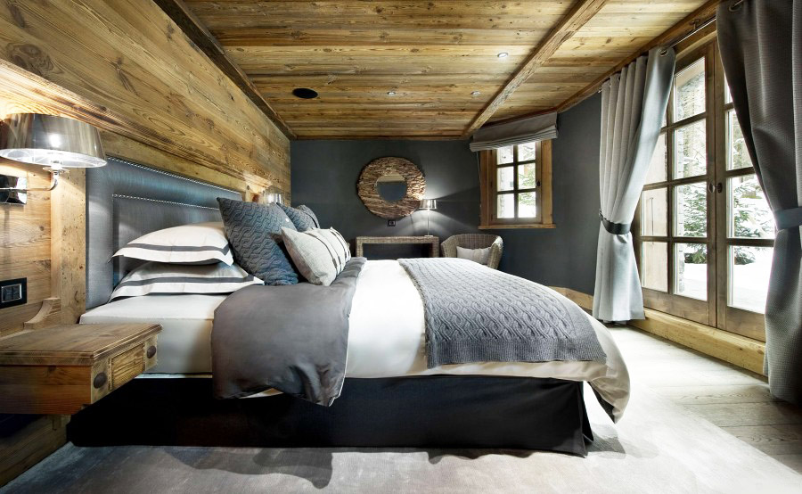 стиль шале спальня
