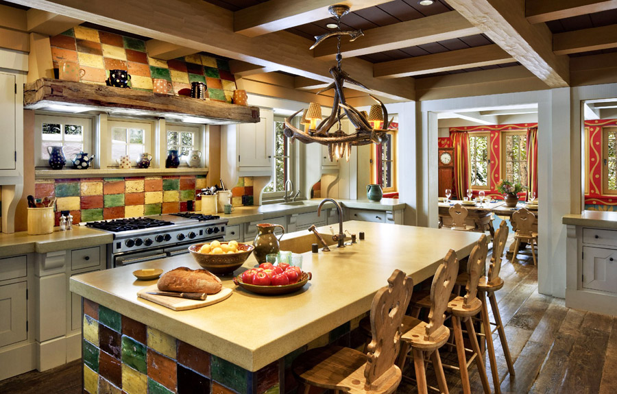стиль шале кухня