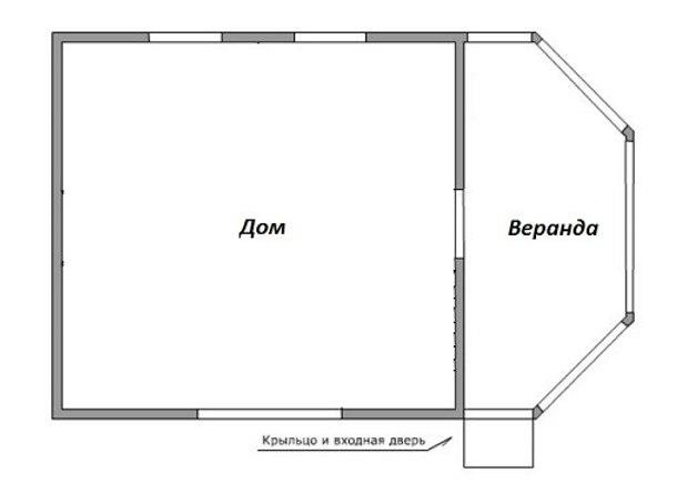 план будинку з верандою