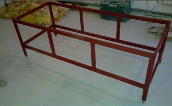 Металевий каркас для ванни з профільованої труби 40х25 мм